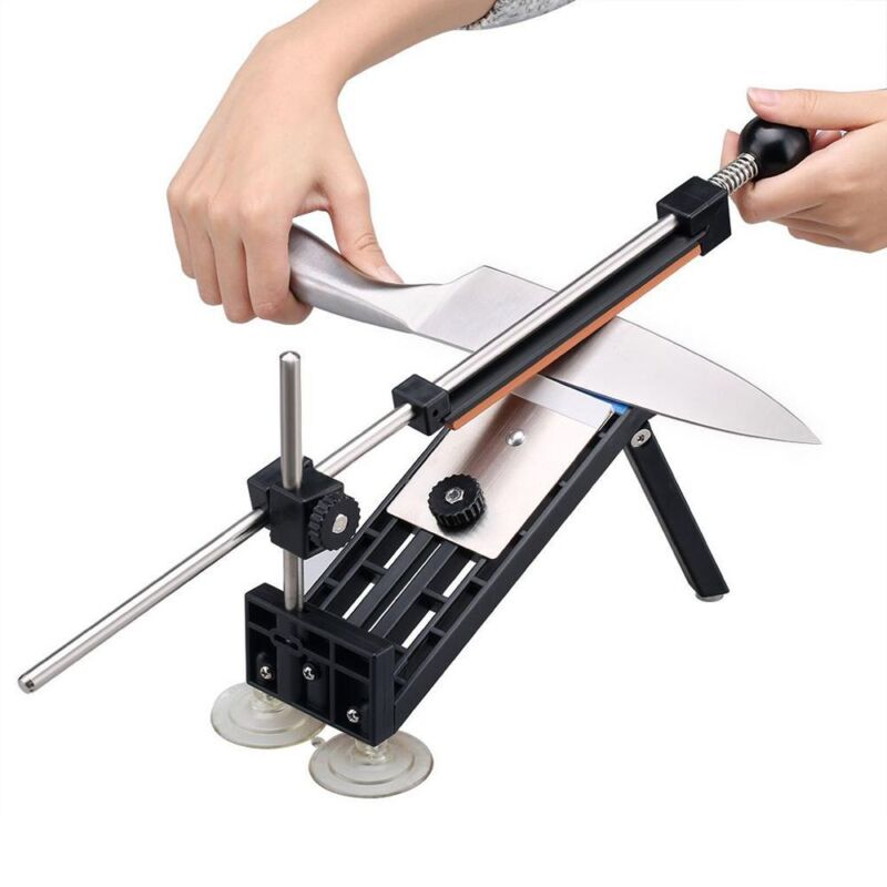 Professional Kitchen Knife Sharpener Sharpening Fix Fixed Angle with 4 Stones CN