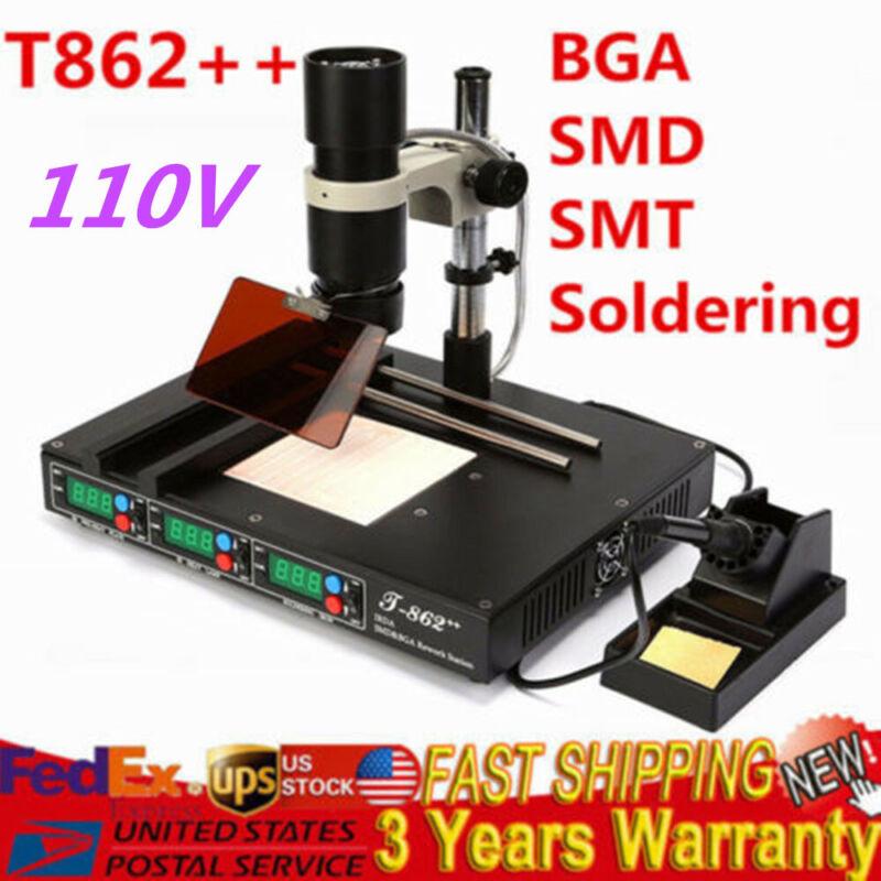 T862++ BGA SMD SMT Rework Station Infrared Welding Soldering Preheating Station