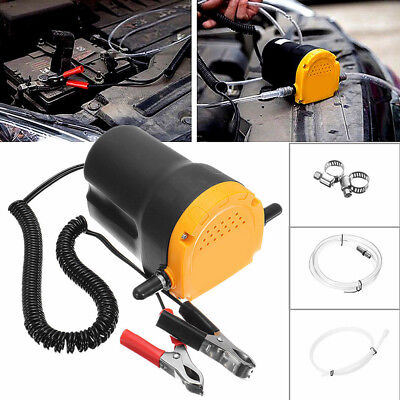 New 12v 5a Oil Diesel Fluid Extractor Electric Transfer Scavenge Suction Pump