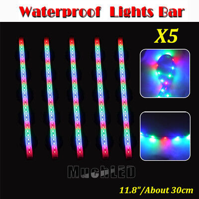 """12/"""" 32LED RGB Flexible Strip Underbody Light Waterproof For Car Motorcycle DC12V"""