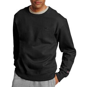 fc79f054e36d Champion Men's PowerBlend Fleece Pullover Crew S0888 S Black for ...