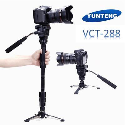 YUNTENG VCT-288 DSLR Camera Tripod Stand Monopod Fluid Pan Head & Unipod Holder
