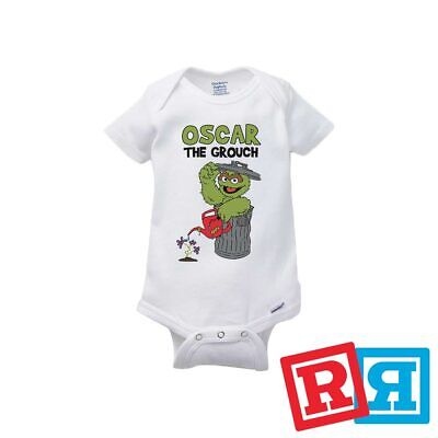 Oscar The Grouch Baby Onesie Sesame Street Kids Bodysuit Gerber Organic -