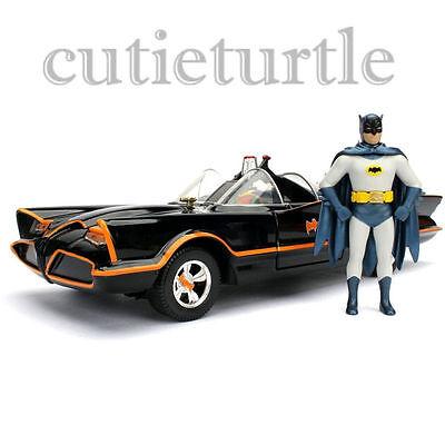 Jada Metals Classic TV Series 1966 Batmobile & Batman Robin Figures 98259 1:24