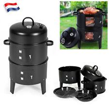 3 en 1 Barbecue Smoker Grill BBQ Fumeur smoker Four + Thermomètre et 2 Grilles