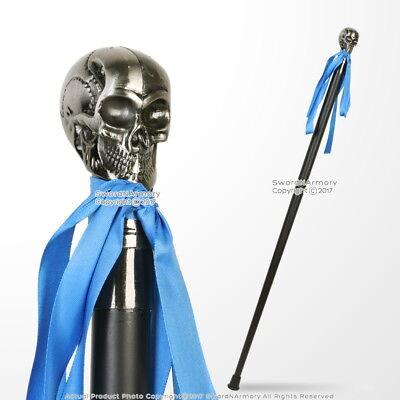 "34"" Fantasy Skull Walking Cane Gentleman Stick Steel Shaft without Blade"