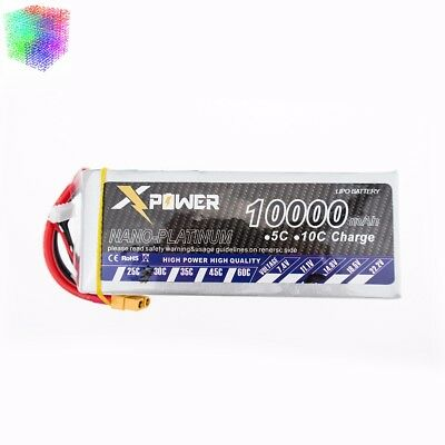 RC LiPo Battery 14.8V 10000mAh 30C 4S UAV Multi-rotor Quadcopter XT60 T EC5 advertise