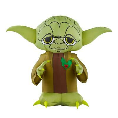Star Wars Christmas Decor 3 Ft LED Small Inflatable Yoda Fabric Outdoor Green