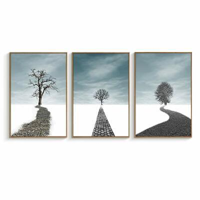 wall26 - Wooden Framed Canvas Wall Art- Path to the Tree - 24