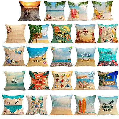 New Summer Beach Style Pillow Case Sofa Bed Home Car Decoration Cushion Cover