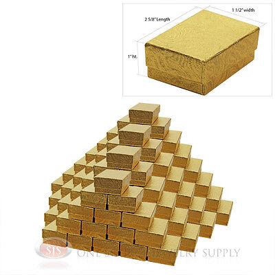 100 Gold Swirl Cotton Filled Jewelry Gift Boxes 2 58 X 1 12 Bracelet Bangle