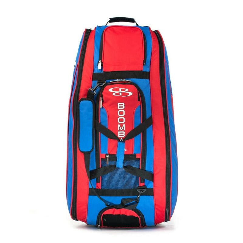 Boombah Beast Rolling Softball Baseball Bag Red And Blue Nice!!!