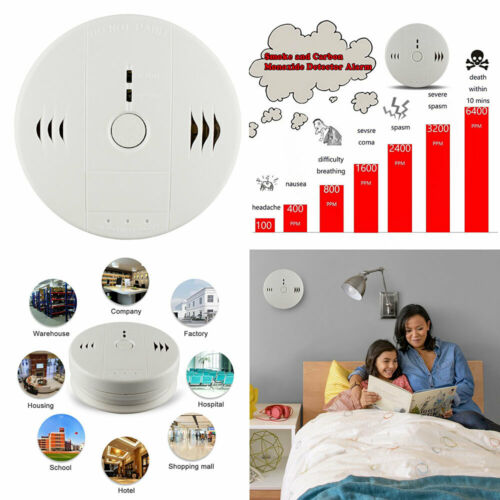Combination Carbon Monoxide and Smoke Alarm Battery Operate
