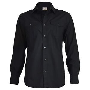 Outfit camisa negra hombre