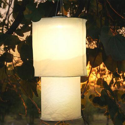 LED solar hanging lamp linen white garden terrace outdoor pendant lamp textile