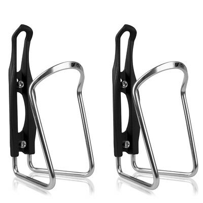 Plastic Water Bottle Cage (BV 2x Bike Alloy Water Bottle Cage Bicycle Holder Rack Ultralight)