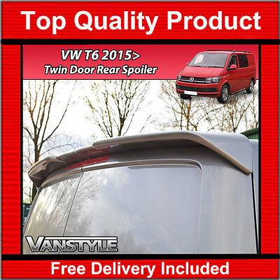 VW T6 REAR TWIN BARN DOORS SPOILER QUALITY SPORTLINE STYLE NOT CHEAP FIBREGLASS