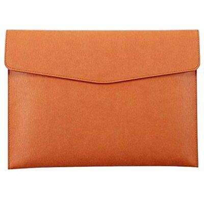 Enyuwlcm Pu Leather A4 File Folder Document Holder Waterproof Portfolio Envelope