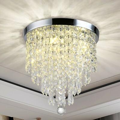 Crystal Chandelier Lighting Modern Flush Mount Ceiling Light Kitchen Living Room Modern Crystal Flush
