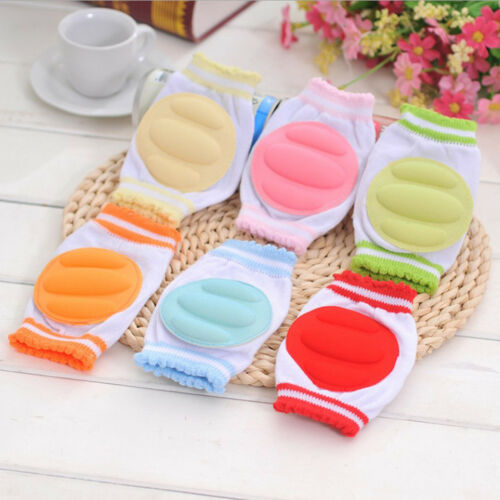 Baby Candy Color Safety Crawling Cotton Elbow Cushion  Knee Pads Protective Gear