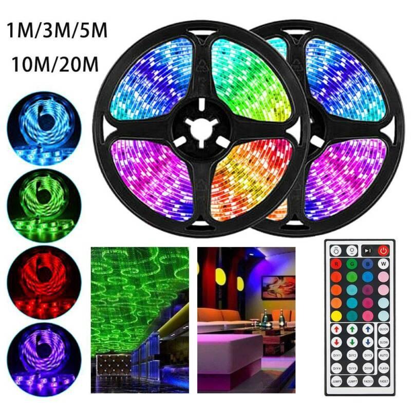5/10/20M RGB LED STRIP LIGHTS COLOUR CHANGING TAPE UNDER CAB