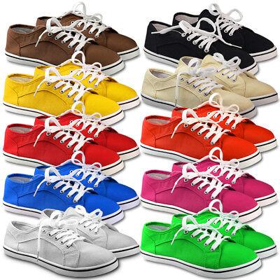 Damen Schuhe Sneaker Leinenschuhe Stoffschuhe Turnschuhe Sportschuhe Gr.36-41