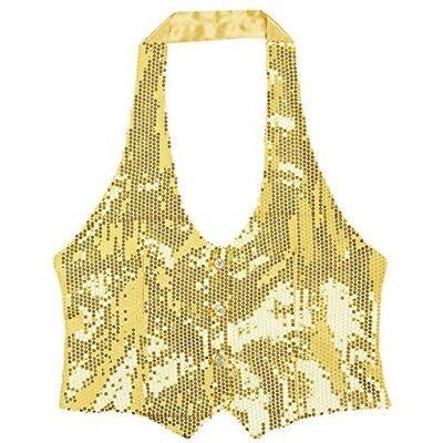 Widmann 9092g - Gilet De Sequins Pour Femmes - M / L - Ladies Gold - Gilet De Kostüm