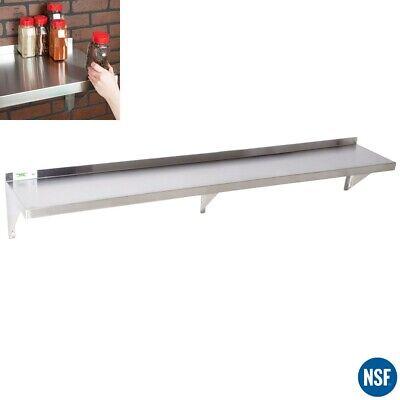 18 Gauge Commercial Stainless Steel Restaurant Kitchen Solid Wall Shelf Storage