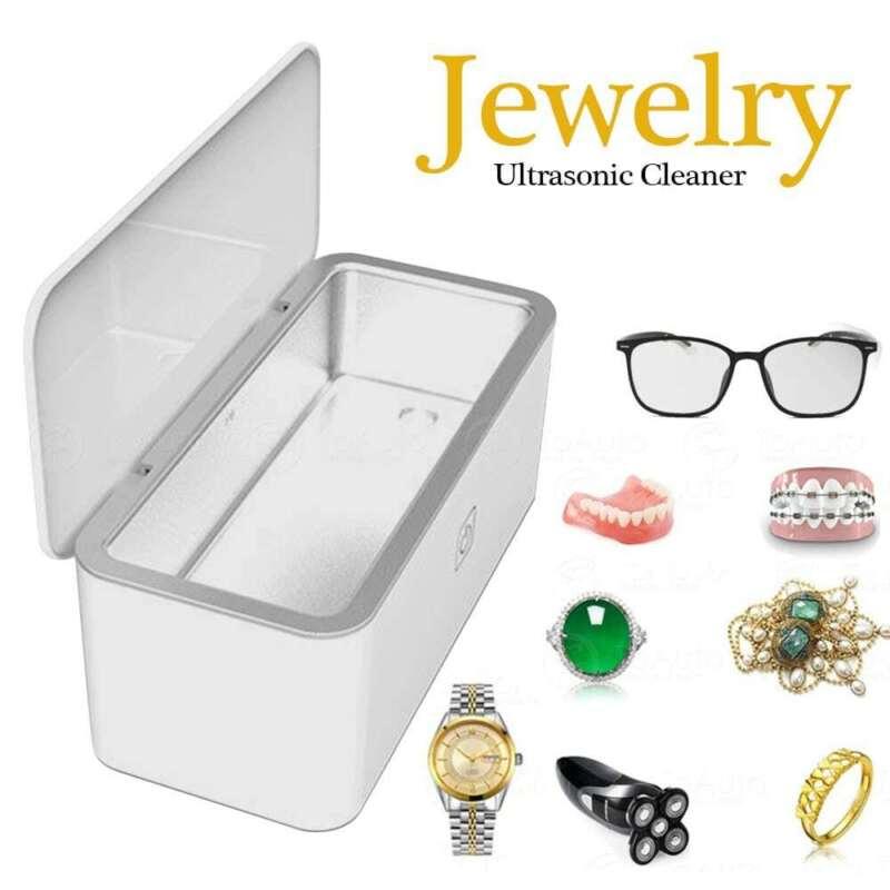 Ultrasonic Cleaner Stainless Steel Tank Sonic Jewelry Rings Earrings Cleaning US