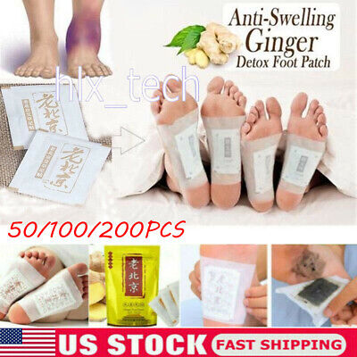 200Pcs Anti-Swelling Ginger Foot Detox Patch Pads Improve Sleep Quality-Slimming