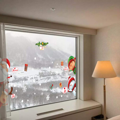 Home Decoration - Christmas Santa Removable Window Stickers Art Decal Wall Home Party Xmas Decor