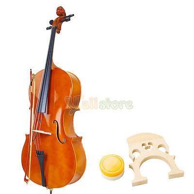 Brand NEW 4/4 Full Size Natural Color wood Cello  with Case Bow Rosin on Rummage