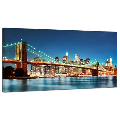 Canvas Print Wall Art Painting Pic Home Decor Photo Poster New York Bridge City