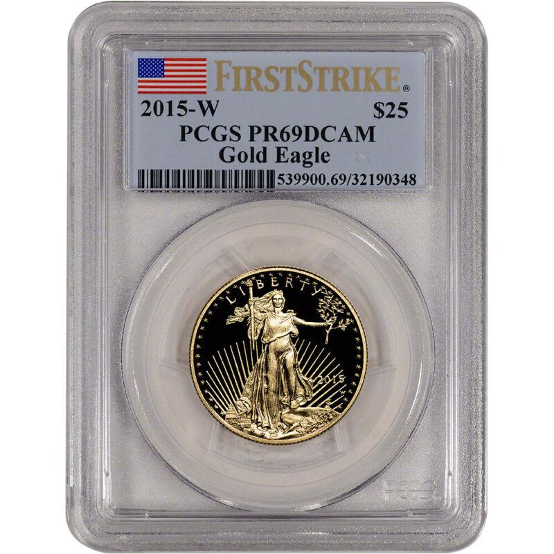 2015-W American Gold Eagle Proof (1/2 oz) $25 - PCGS PR69 DCAM First Strike