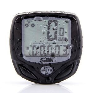 Black Wireless LCD Bike Bicycle Cycle Computer Odometer Speedometer Waterproof