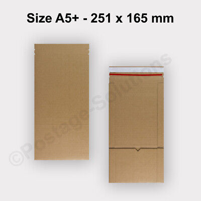 25 Quality Book Wrap Postal Cardboard Mailing E-Flute Boxes - 251x165 mm Size