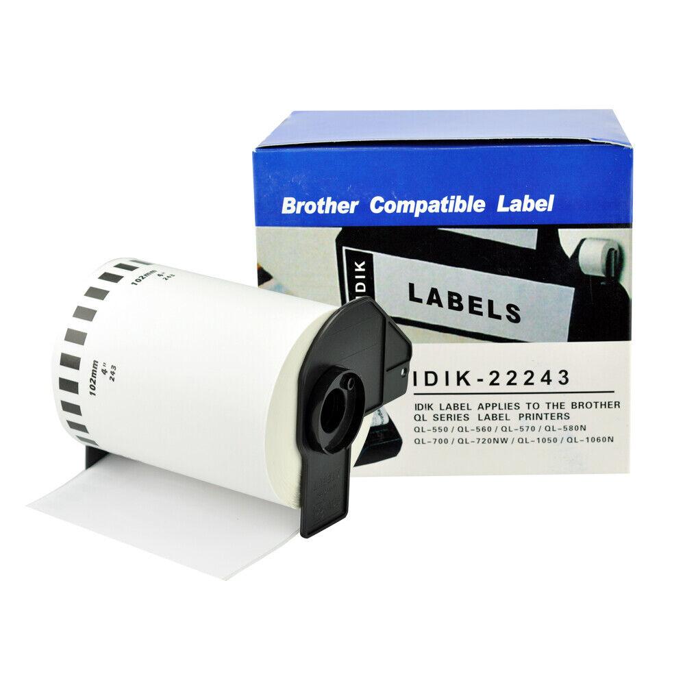 4x Etiketten für Brother P-Touch DK22243 102mm x 30,48m