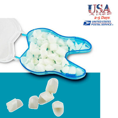 60pc Anterior Teeth Caps Front Tooth Temporary Crown Dental Treat Restoration Us