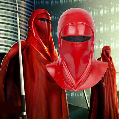 Star Wars Imperial Guard Helmet Royal Guard Cosplay Red Mask Latex Full Head