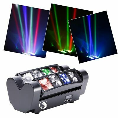 RGBW 80W LED Spider Strobe Moving Head Stage Lighting DMX Sound Control for DJs
