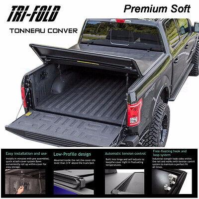 "Fits 2014-2017 SILVERADO Premium Tri-Fold Tonneau Cover 5.8ft 69.6"" Short Bed"