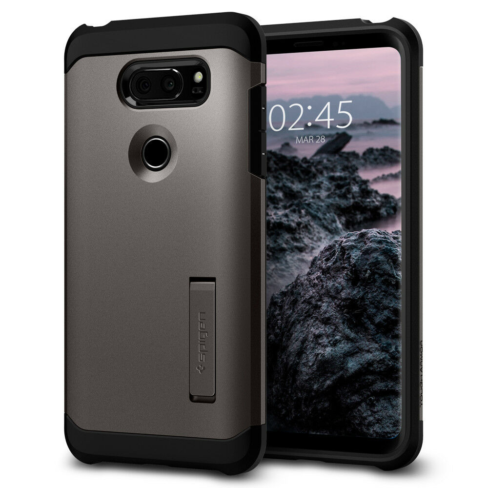 Spigen® LG V30  Shockproof TPU Kickstand Case Cover