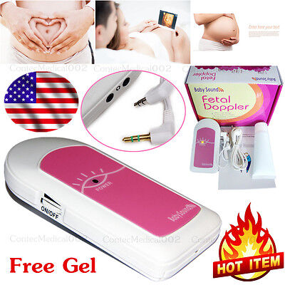 Ultrasound Scanner Pocket Fetal Doppler Prenatal Heart Monitor Baby Heart Beat