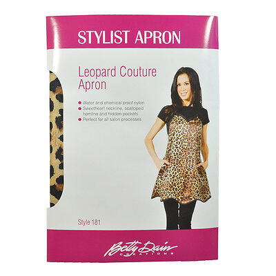 Betty Dain #181 Salon Leopard Couture Water, Chemical Proof Stylist Apron