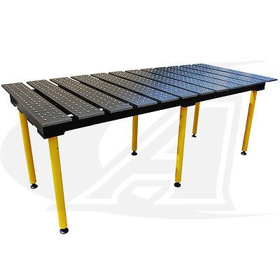 Buildpro 8 2.4m Modular Welding Table 30 High - Standard Finish