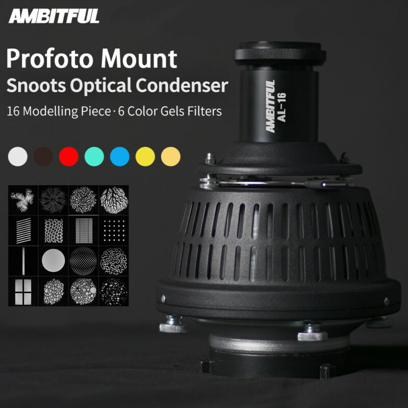 AMBITFUL AL-16 Optical Condenser Art Focalize Conical Snoot With Profoto Mount