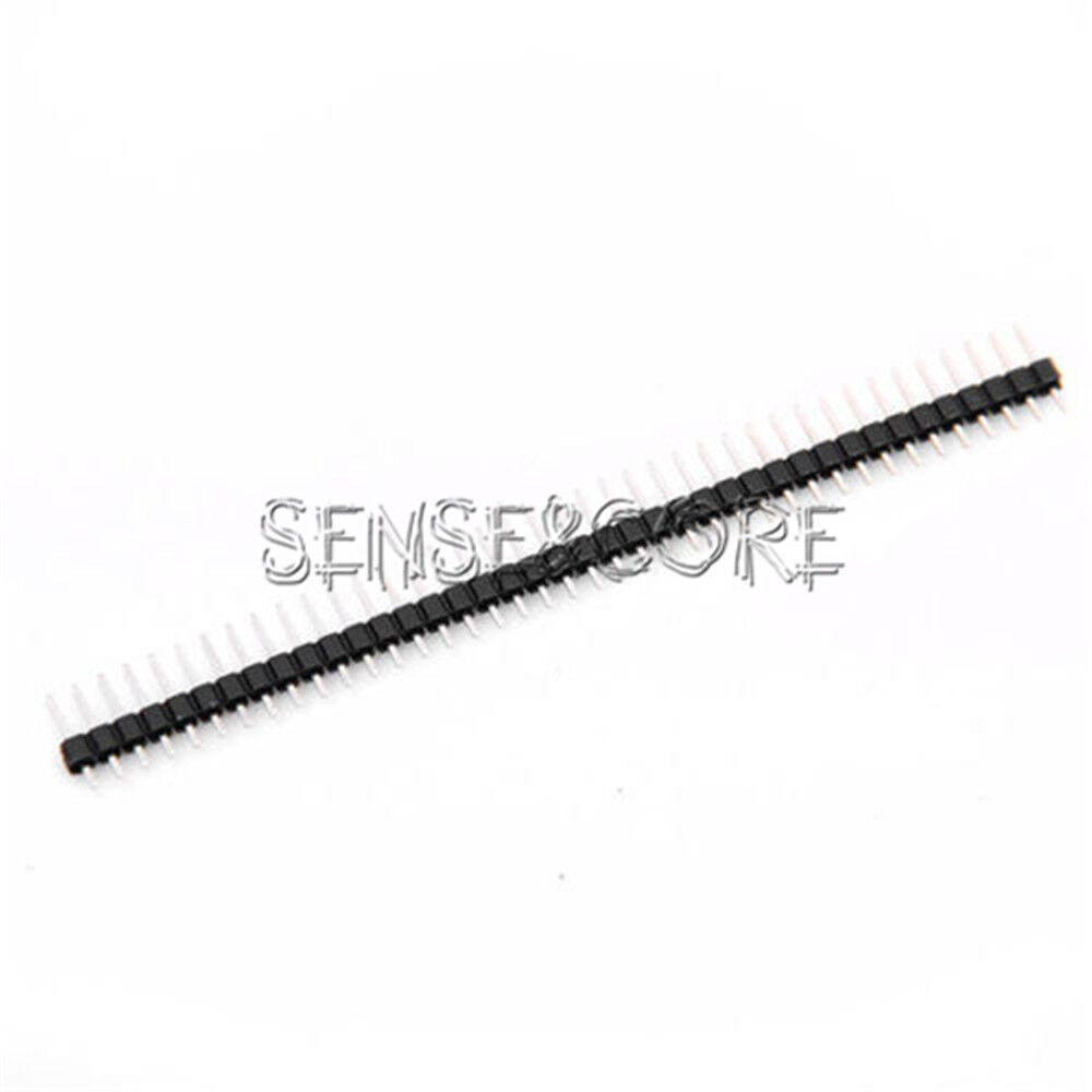 10stks  40pin 1x40p pcb single row pin header strip 2 54mm