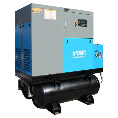 460v 3 Ph 30hp Rotary Screw Air Compressor With Two 80 Gallon Tanks Air Dryer