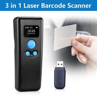 Handheld 2.4g Wireless Wired Usb 3in1 Laser Barcode Scanner For Ios Android Pos