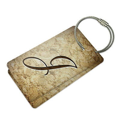 Letter J on Cork Design Suitcase Bag ID Luggage Tag - Design Luggage Tag Set